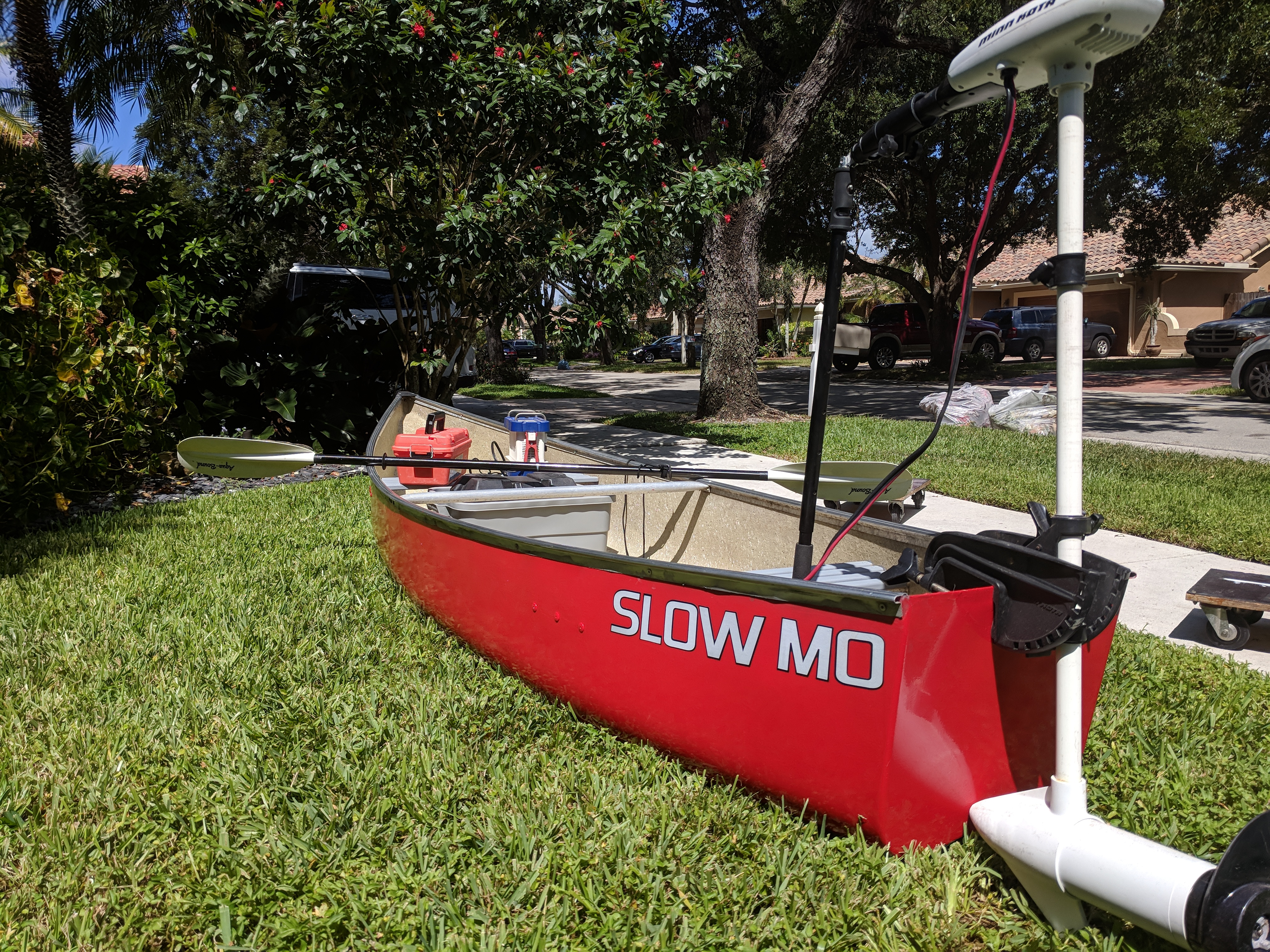 FS - Square Stern, flat bottom, canoe with trolling motor
