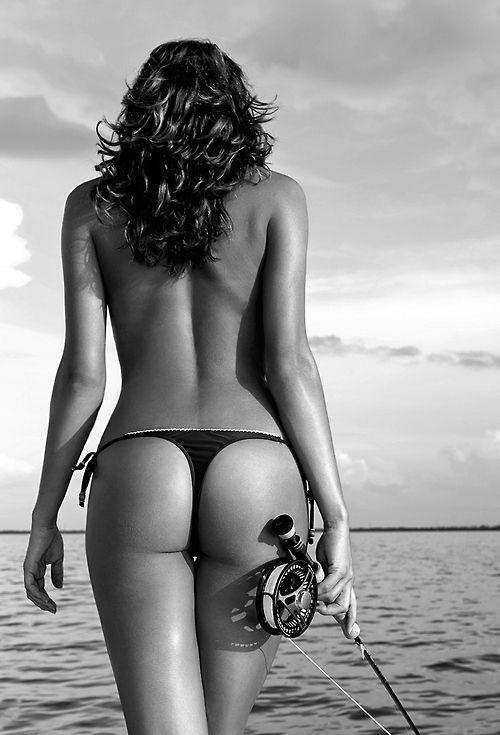Fly fishing women in bikinis
